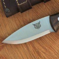 TBS Lynx Bushcraft Neck Knife - Turkish Walnut - Nordic Sheath & Firesteel